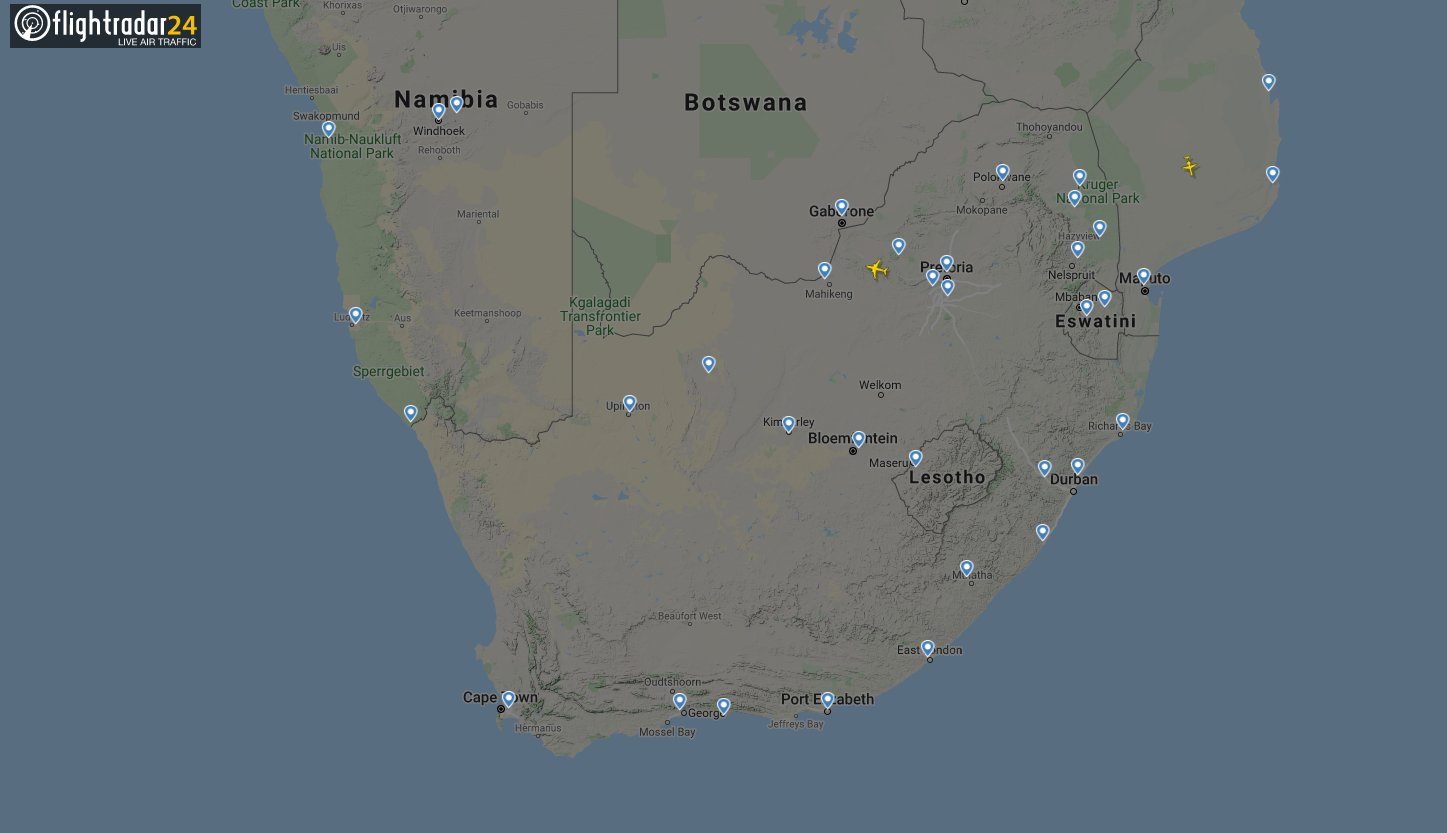 ZA Flights now