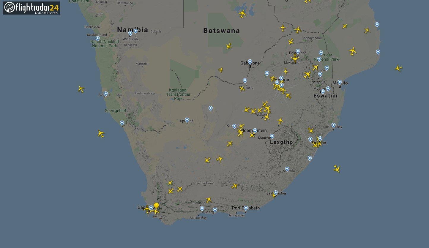 ZA flights before